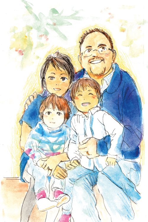 Author Gregory March With His Family